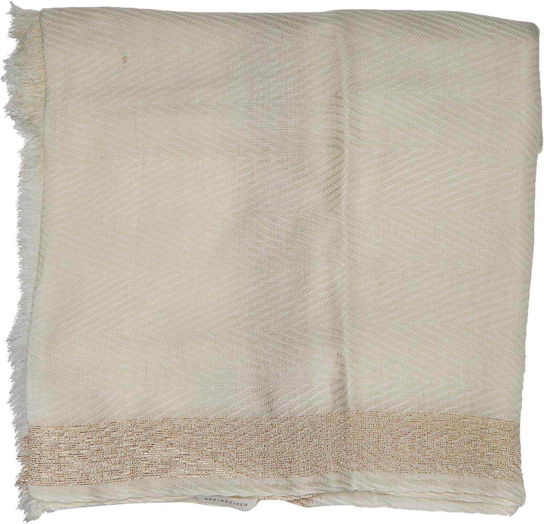 Springfield 4.1.G Cuadro Lurex Bufanda, Azul (Hielo 94), One Size (Tamaño del fabricante:U) para Mujer