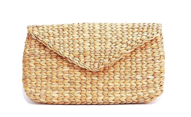 Mini Vintage Handmade Knit Bamboo Rattan Straw Clutch Bag / Handbag:  Handbags: Amazon.com