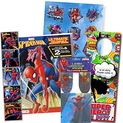 Bendon Intl Disney Favorite Characters Coloring Books for Kids with Stickers (Spiderman): Toys & Games