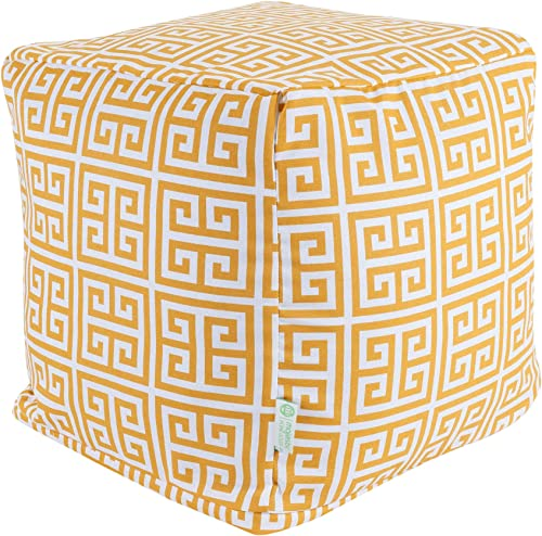 Majestic Home Goods Citrus Towers Indoor Outdoor Bean Bag Ottoman Pouf Cube 17 L x 17 W x 17 H