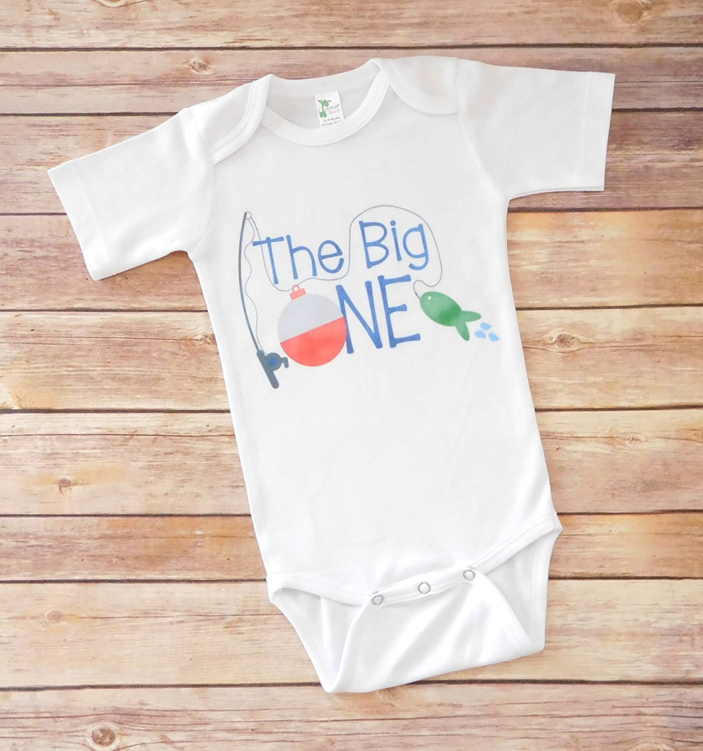 First Birthday Outfit - The Big One - Fishing Theme