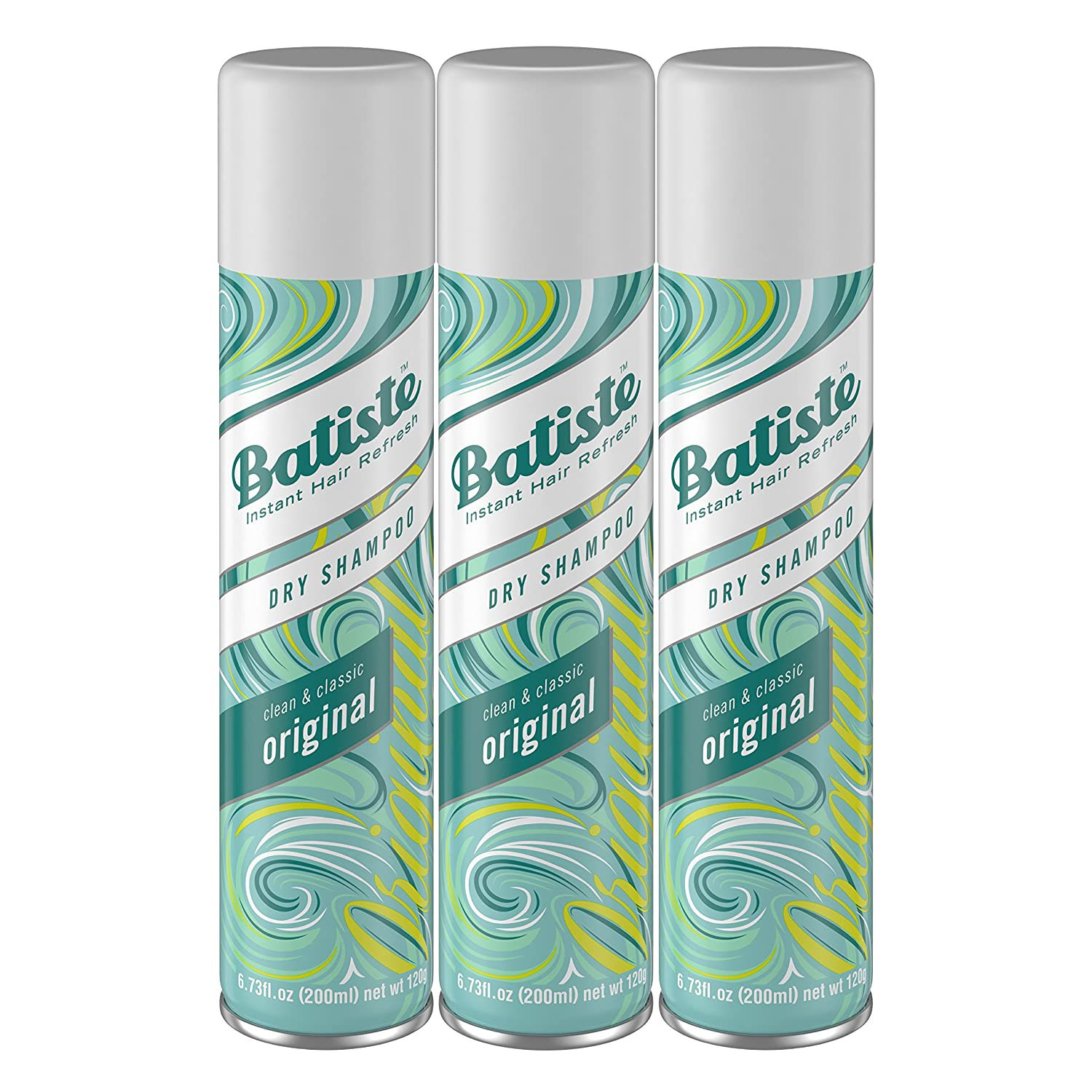 Batiste Dry Shampoo, Original Fragrance, 6.73 Fl Oz,Pack of 3
