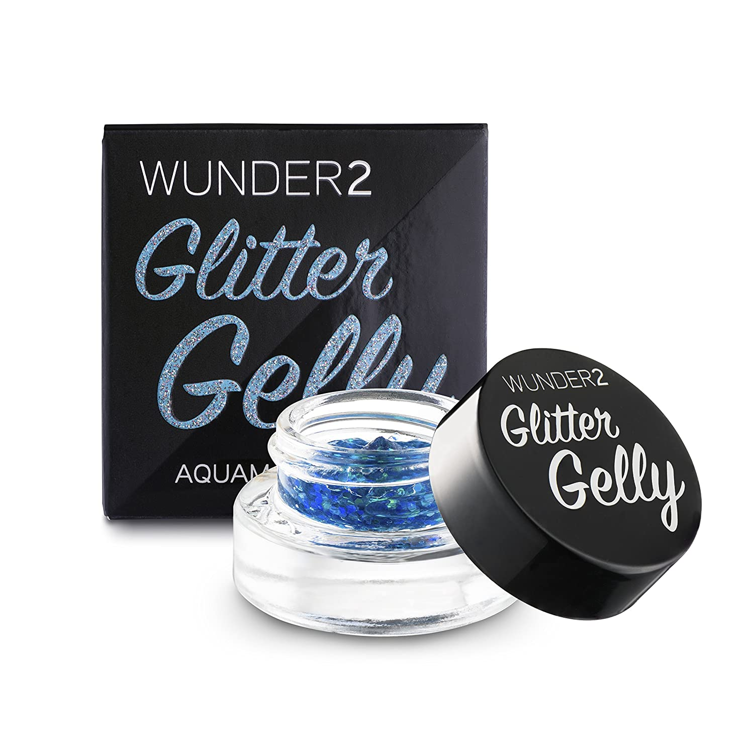 WUNDER2 Glitter gelly long lasting glitter gel, Citrine, 0.05 Fl Oz KF Beauty GG_CIT