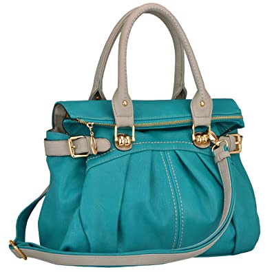 MG Collection Gabby Oversized Shopper Hobo Shoulder Bag, Teal, One ...