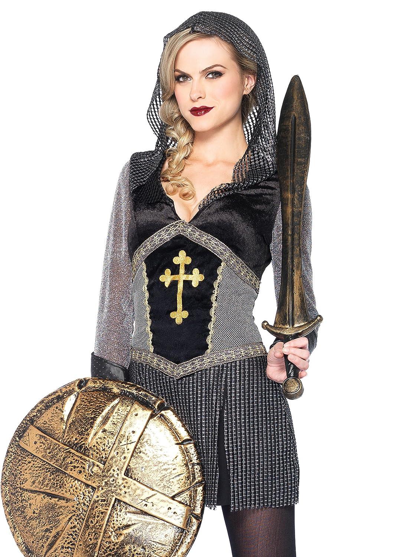 Leg Avenue 85202 - Kostüm Joan of Arc, Größe M, schwarz/silber Größe M 8520202065