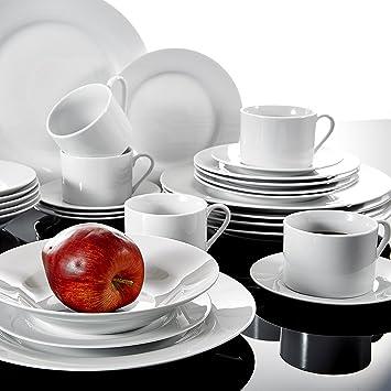 91a06dc0b3721 Malacasa, Série SOFIA, Services de Table en Porcelaine, Vaisselles Couverts  de Table Services à café, 30 Pièces ...