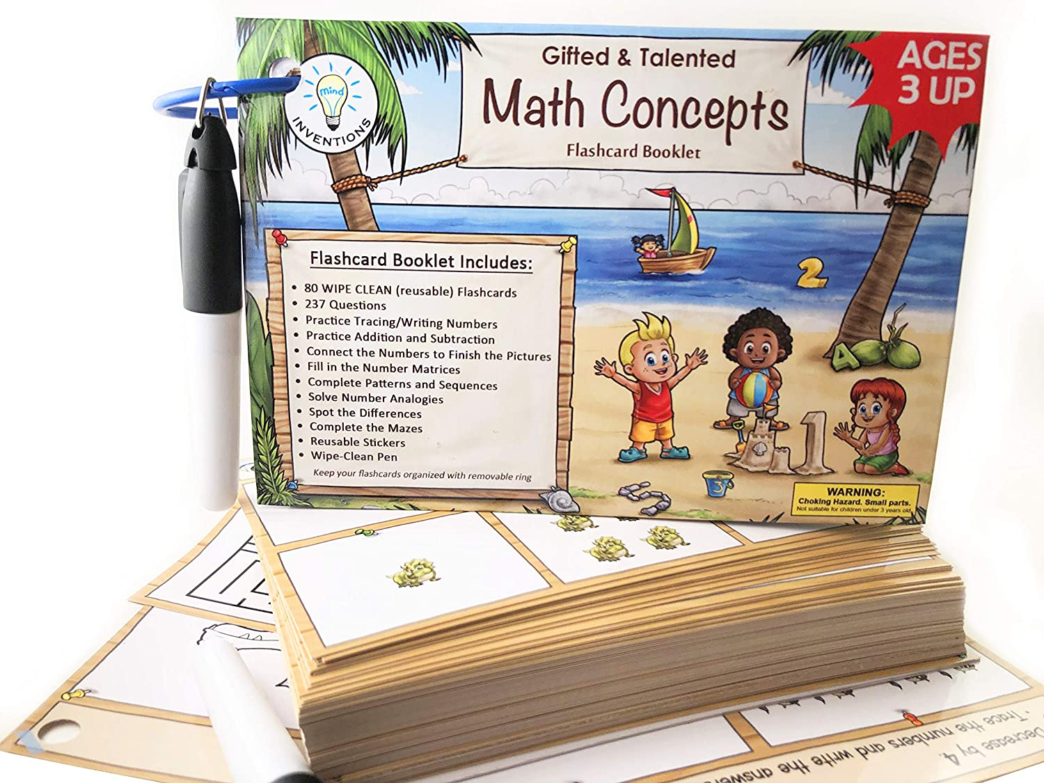 Gifted and Talented Math Flashcards (Wipe Clean) - Essential Math Concepts