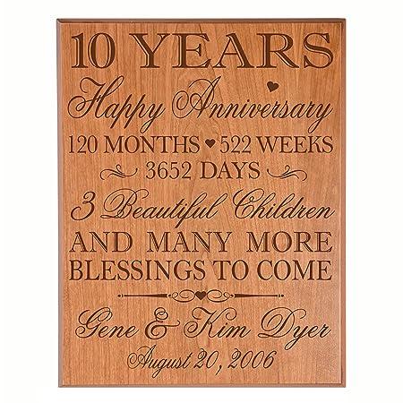 10 Year Wedding Anniversary Ideas.Personalized 10 Year Wedding Anniversary Gifts For Couple 10th