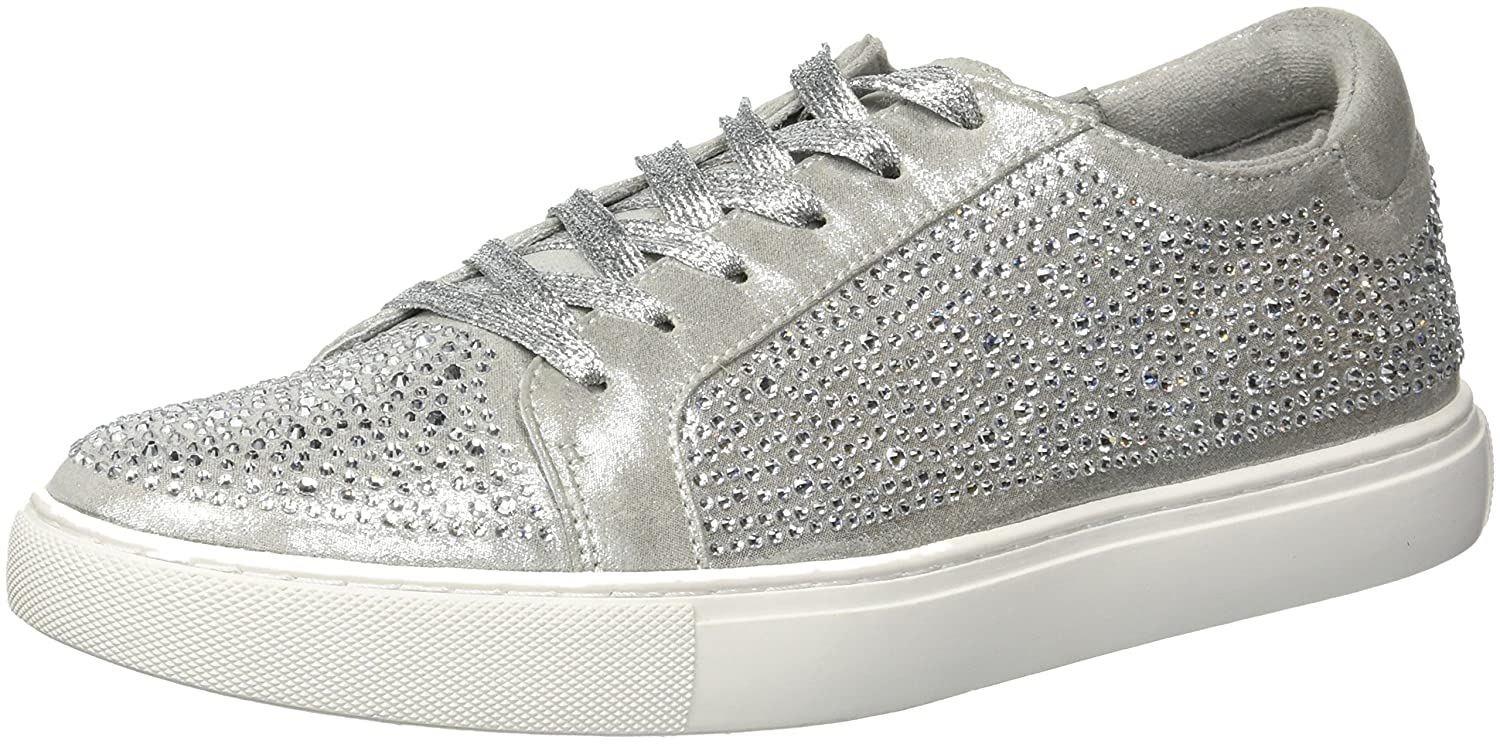 Kenneth Cole New York Women's Kam Shine Lace-up Embellished Sneaker B079JW6JLL 6 B(M) US|Silver