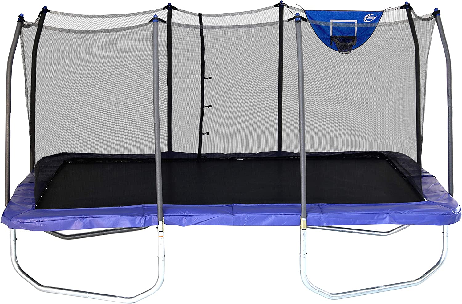 Skywalker Trampolines - Rectangle Jump-N-Dunk Trampoline with Enclosure