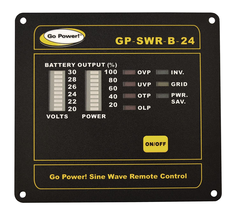 Go Power GP-SWR-B-24 Inverter Remote for the 24V GP-SW1000, 2000 3000