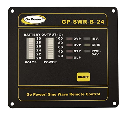 Go Power GP-SWR-B-24 Inverter Remote for the 24V GP-SW1000, 2000 3000