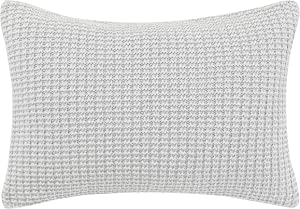 "Laura Ashley Home | Classics Collection | Perfect Decorative Throw Pillow, Premium Designer Quality, Decorative Pillow for Bedroom Living Room and Home Décor, 14"" X 20"", Dove Grey"