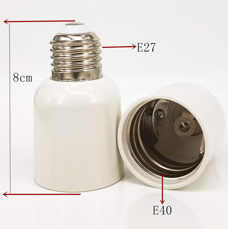 Zdcdj 4pcs E27/adattatore E27/a E40/lampada base adattatore convertitore a LED alogene lampade a risparmio energetico E27/a E40/lampada base adattatore per lampadine a incandescenza