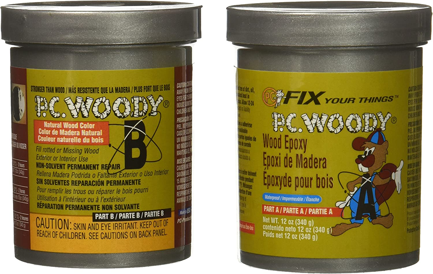 Protective Coatings 16333 12 oz PC-Woody Epoxy Paste