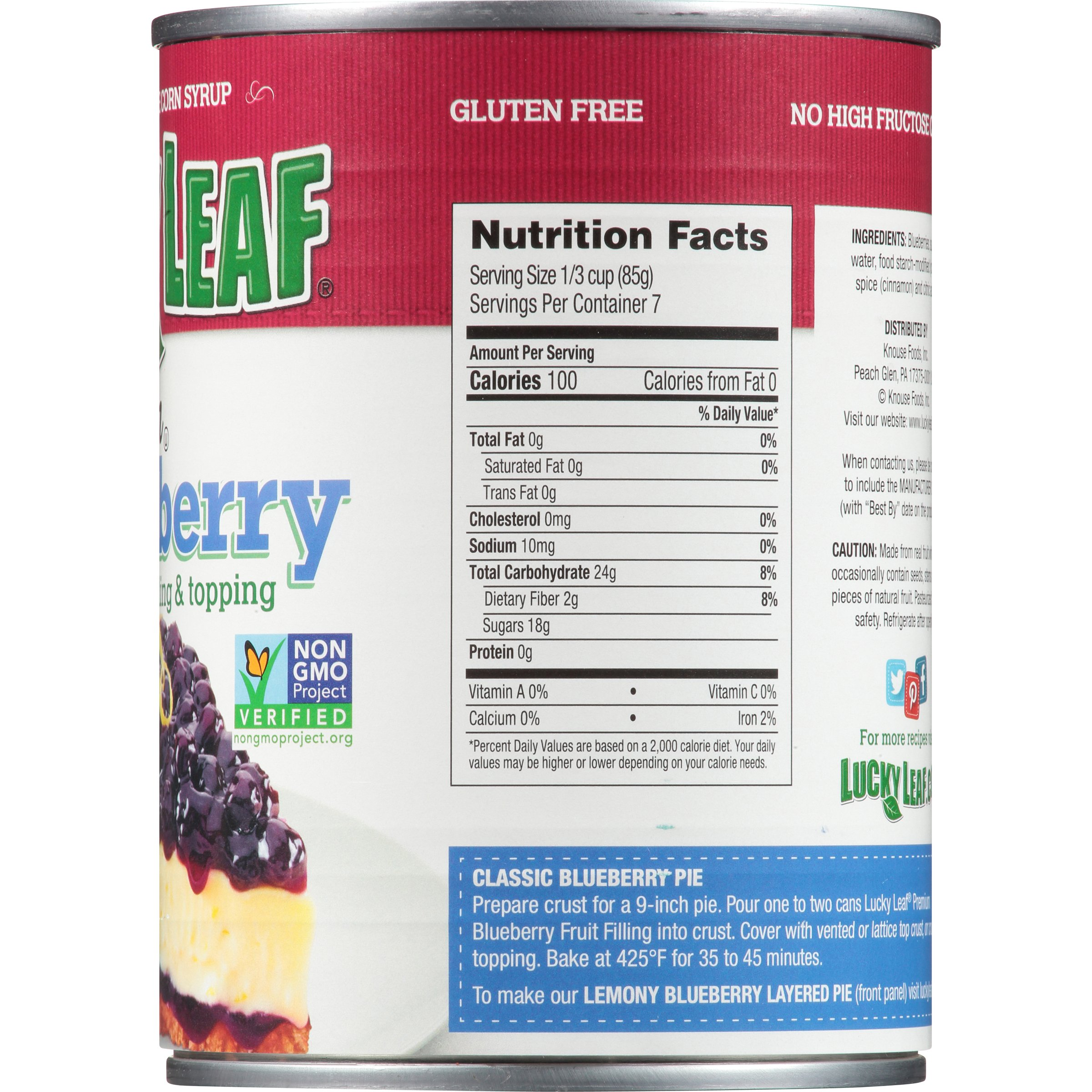 Lucky Leaf Premium Blueberry Fruit Filling & Topping, 21 Ounce (Pack of 8) by Lucky Leaf (Image #7)