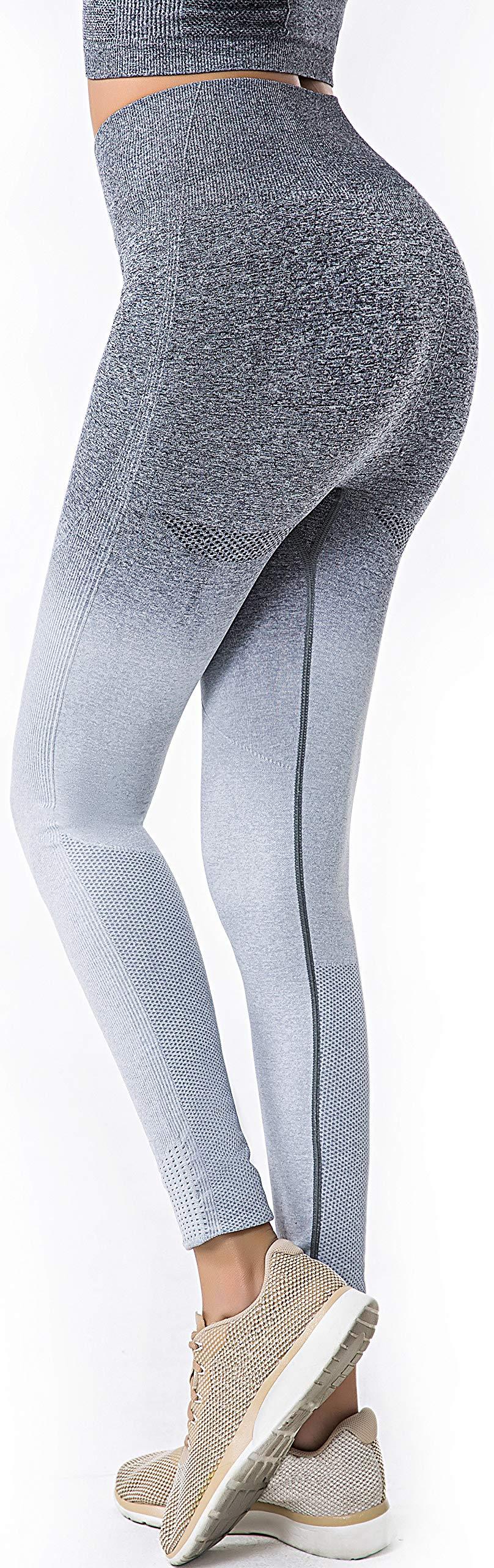 0b74414863cb2 RUNNING GIRL Ombre Seamless Gym Leggings Power Stretch High Waisted Yoga  Pants ...