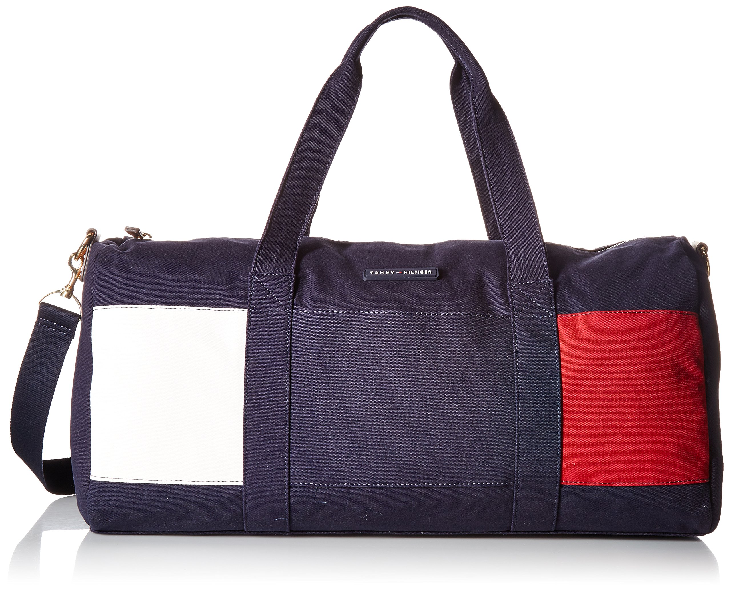 Tommy Hilfiger Women's Duffle Flag Canvas, Tommy Navy