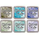 Tim Holtz Distress Oxide Ink Pads - 2018 Release - Cool Tones - 6 Ink Pad Set