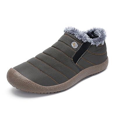 fbb0bdc92dacbb SAGUARO® Homme Femme Bottes Hiver Neige Cheville Boots Chaudes Fourrure  Bottines,Haut Bas Gris