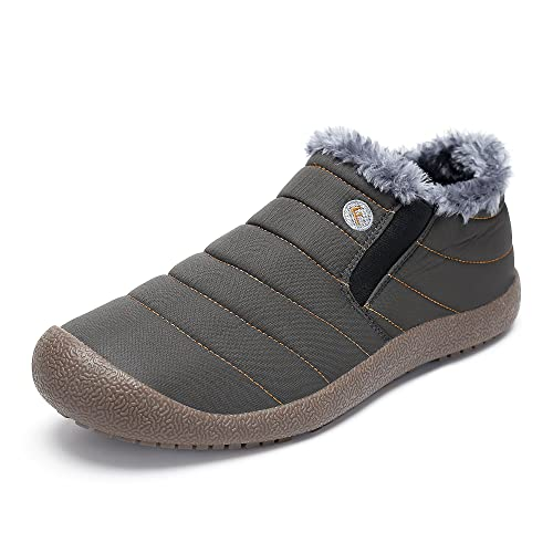 Boots EU Cheville Neige SAGUARO® Bas Femme Haut Bottes Homme Chaudes Gris Fourrure 40 Bottines Hiver mv8wnyON0
