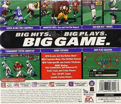 Amazon com: Madden NFL 99: Video Games