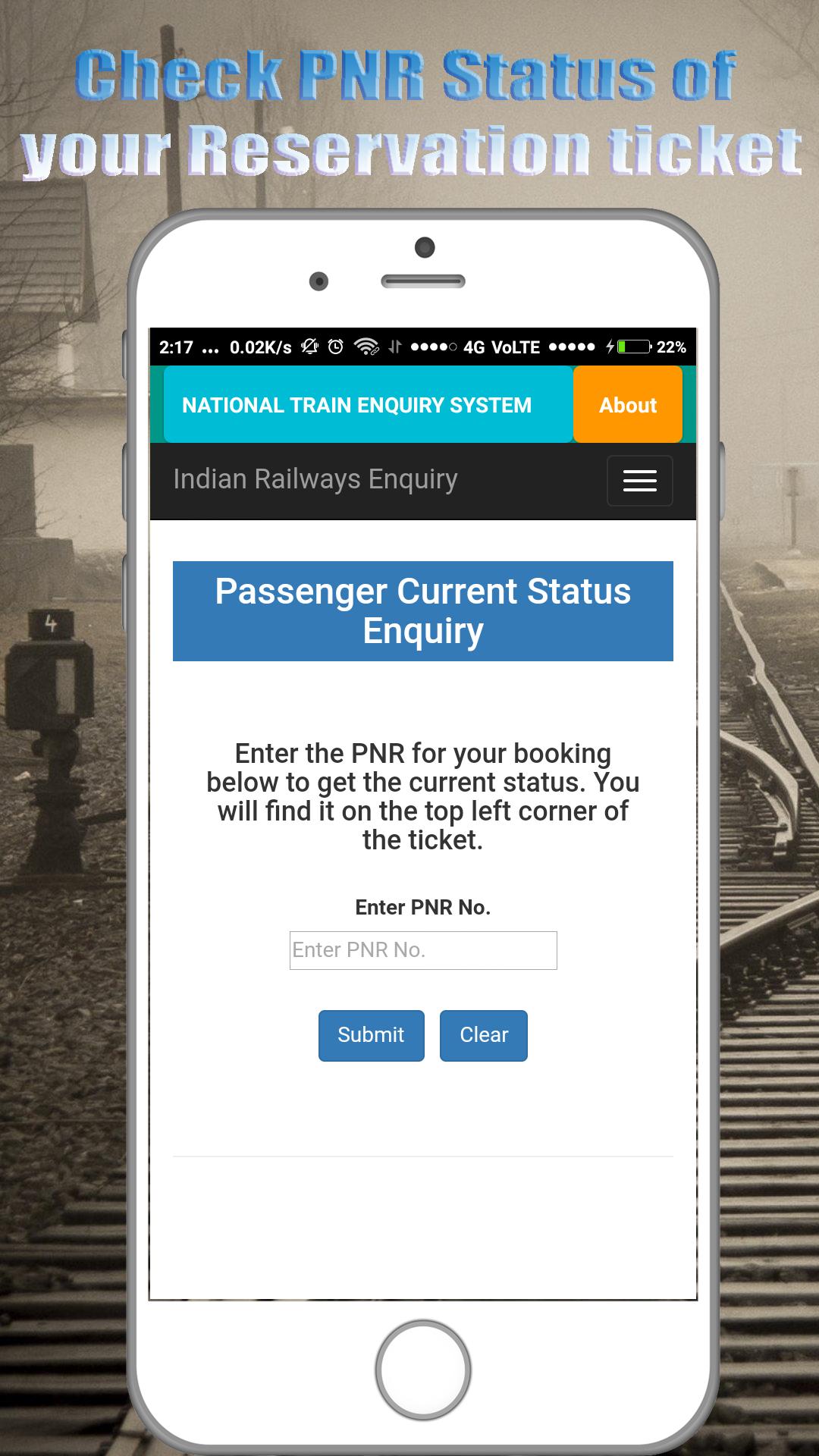 Amazon com: Train Enquiry System - Train Live Status- PNR Status