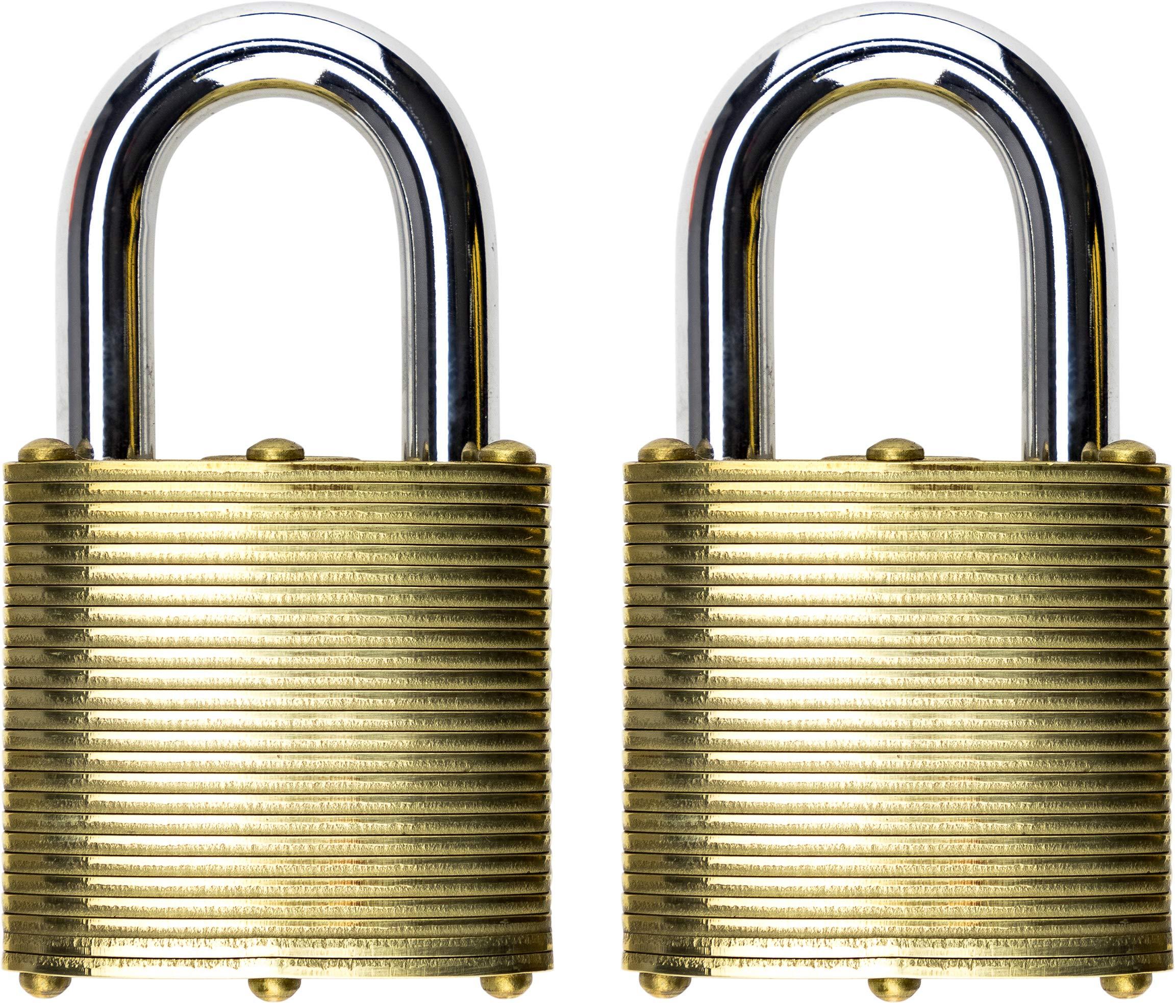 Commando Lock 3002 Marine Series Military Grade Brass Lock (40 Millimeter) (2 Pack) by Commando Lock