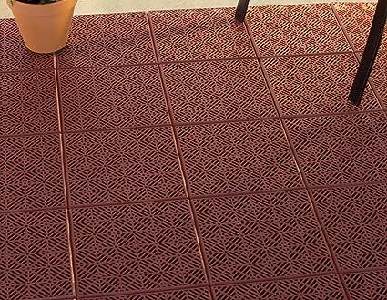 pure garden interlocking patio deck or garage floor tiles 12 x 12 - Garden Tiles