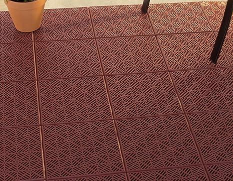 Pure Garden Interlocking Patio, Deck Or Garage Floor Tiles   12 X 12