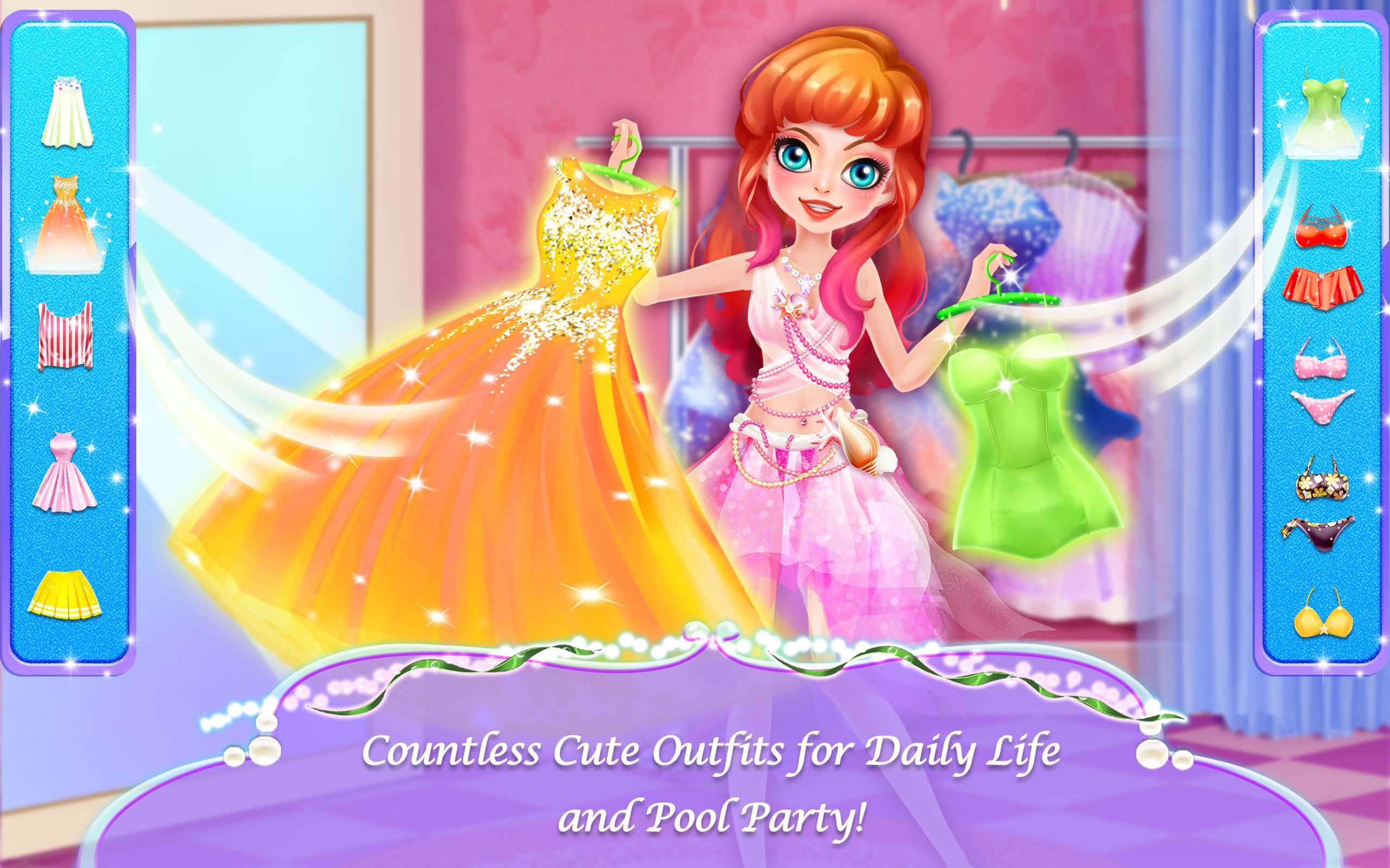 Mermaid Princess Love Story Dress Up & Salon Game