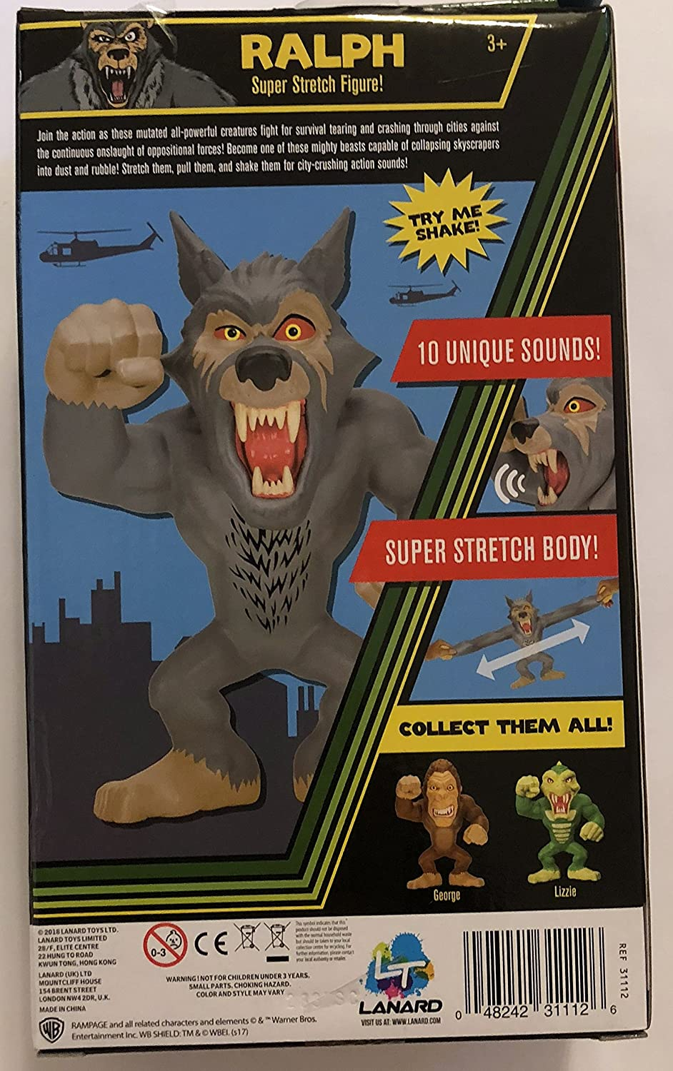 Toys Games Rampage Super Stretch George Figure Sound Exclusive Retro Toy Toys Games Action Figures
