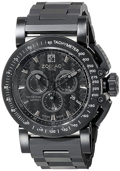 Zodiac ZMX hombre zo8542 Racer Reloj de acero inoxidable: Amazon.es: Relojes