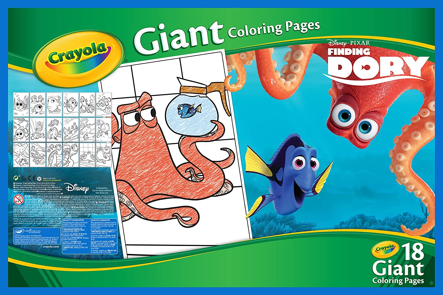 Amazon.com: Crayola Finding Dory Giant Coloring Pages: Toys & Games
