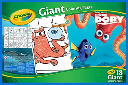 amazoncom crayola finding dory giant coloring pages toys games
