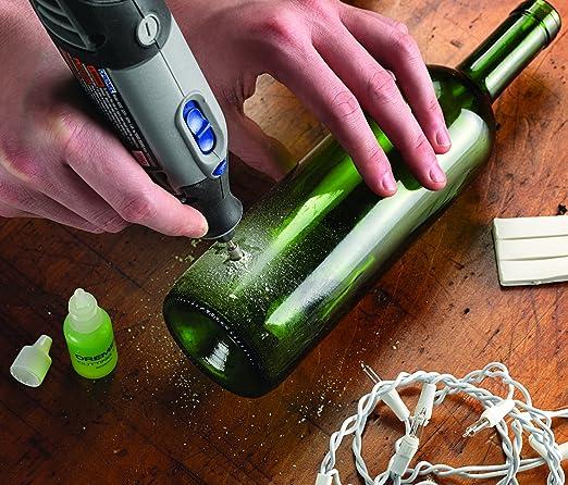 Come Forare Una Bottiglia Di Vetro.Dremel 663 Set Foratura Vetro 6 4 Mm Con Fluido Amazon It Fai Da Te