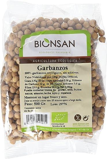 Bionsan Garbanzos Ecológicos | 6 paquetes de 500 gr. | Total: 3000 gr
