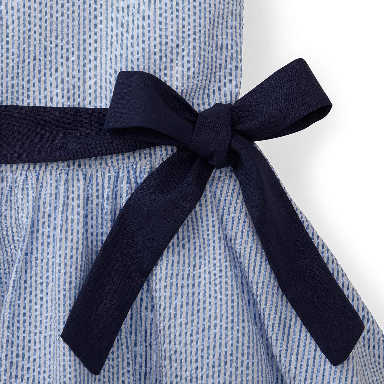 Hope /& Henry Girls Peter Pan Collar Seersucker Dress