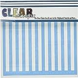 Clear Scraps CSSM6-STRPE Translucent Plastic Film Stencil, Stripes, 6-Inch x 6-Inch