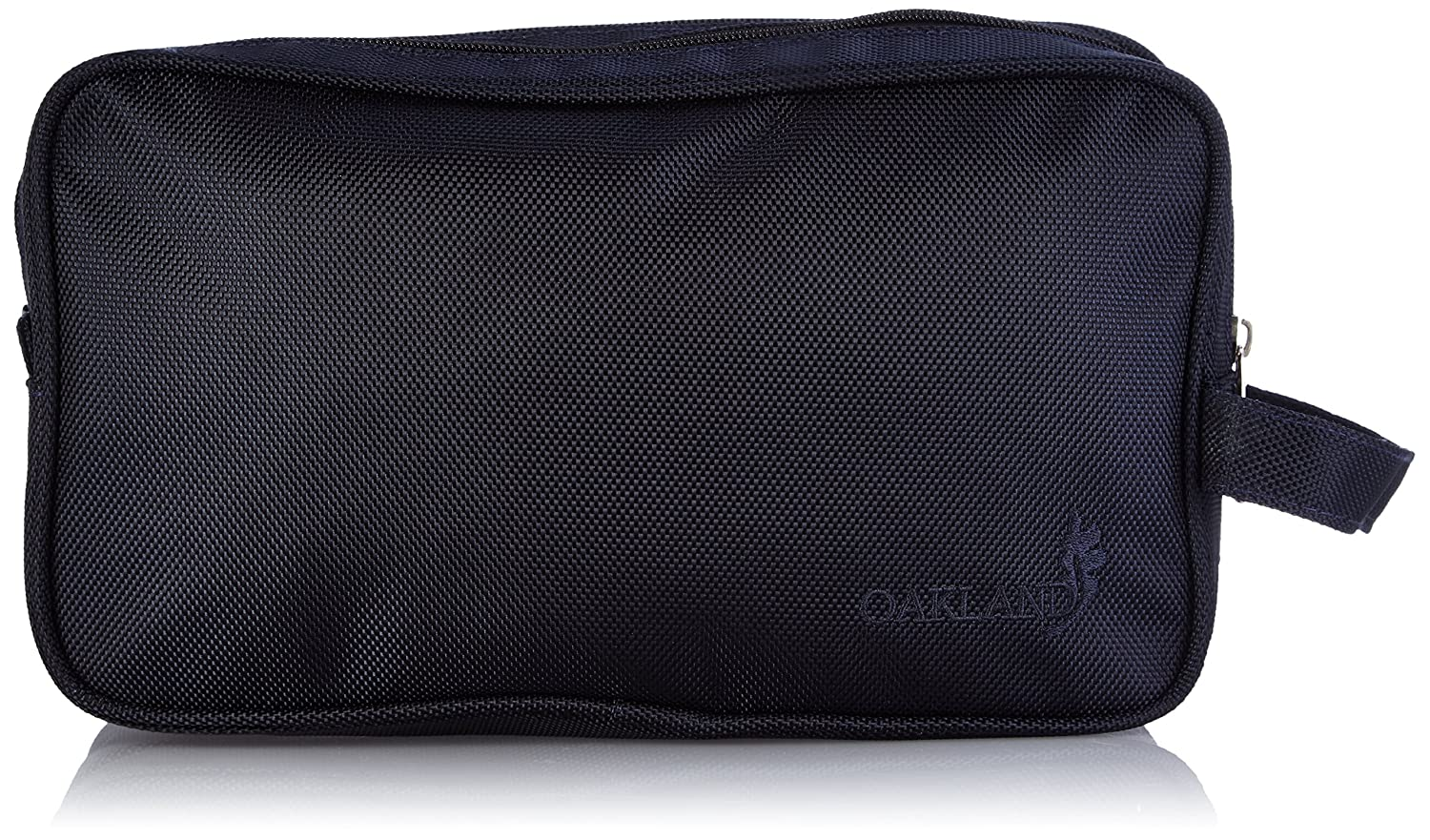 aecd2ca5d0 Oakland Men s Large nylon Washbag Travel Wash Bag with 2 compartments and  handle (Black)  Amazon.co.uk  Luggage