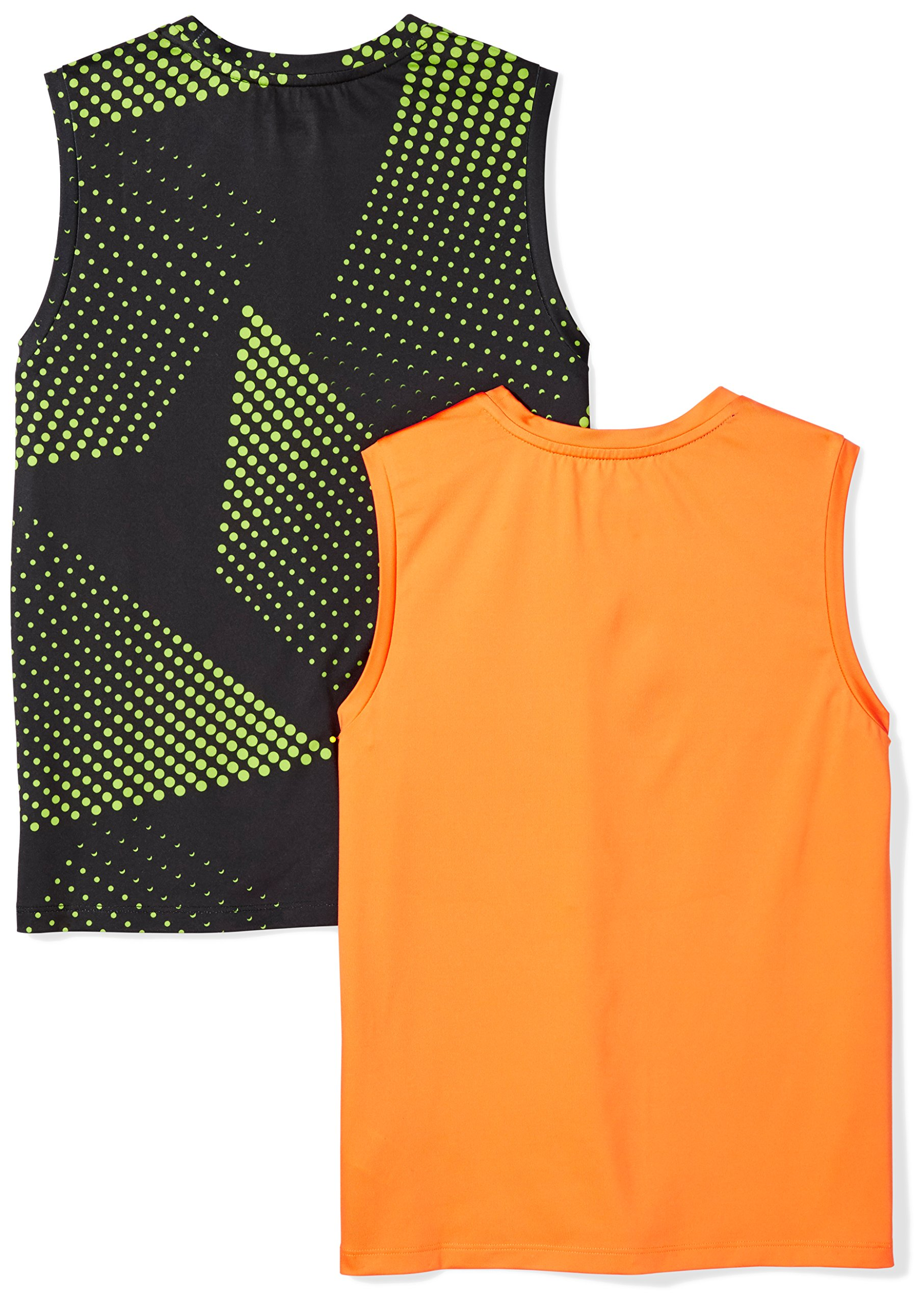 Amazon Essentials Boys' 2-Pack Active Muscle Tank, Gradient/Orange, M by Amazon Essentials (Image #3)