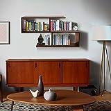 Klaxon Home Decor Wall Shelves (Matte Finish, Walnut)