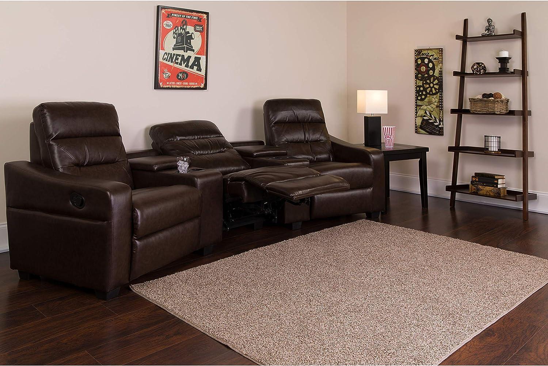 Flash Furniture Theatre Seats | LeatherSoft RecliningHome Theatre Sectional Sofa