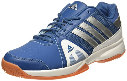 Adidas Men s Net Setters Indoor Corblu Silvmt White Tennis Shoes - 7 UK  1c00f48caf1
