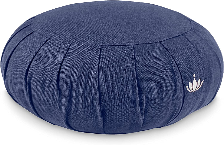 Lotuscrafts Zafu-Coussin de Meditation Zen 100/% Coton Bio GOTS Bleu-Roi