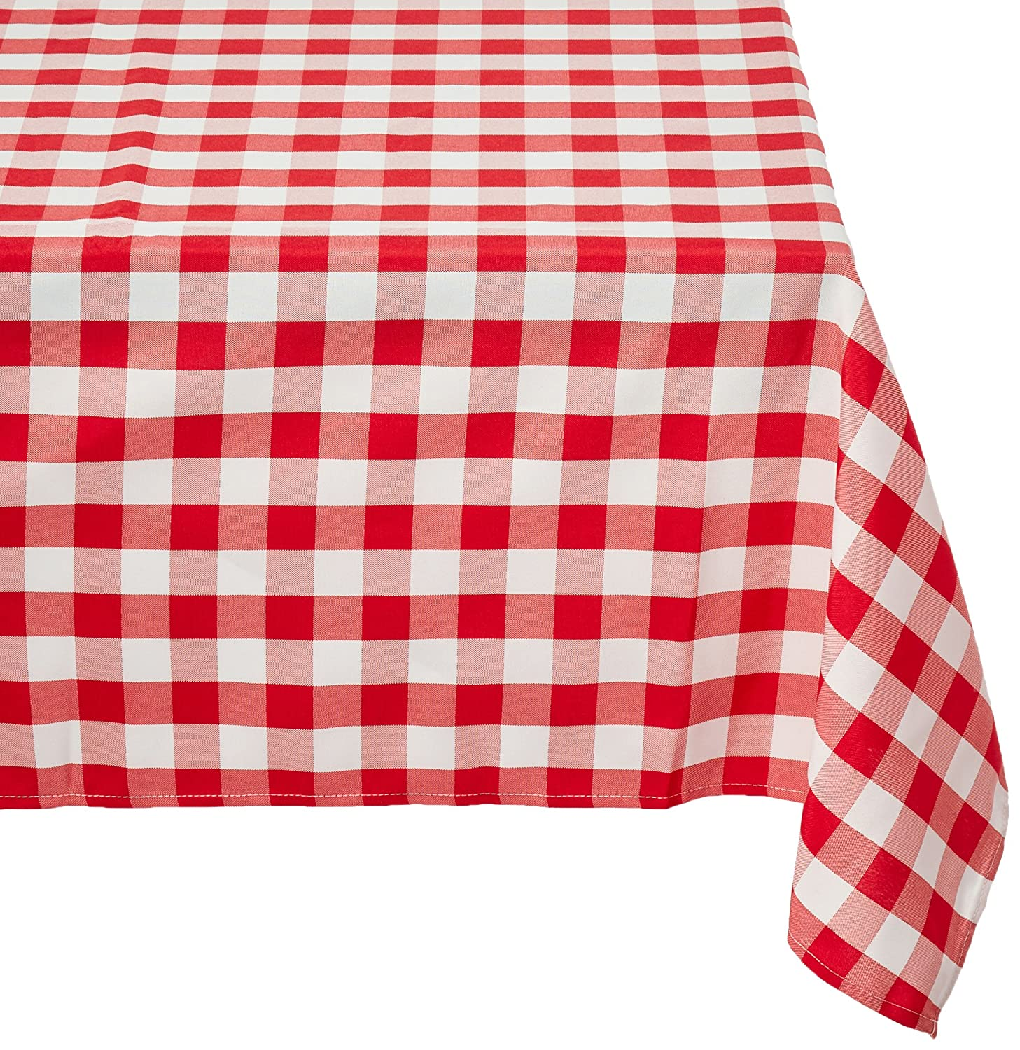 Charming Amazon.com: LinenTablecloth 60 X 102 Inch Rectangular Tablecloth Red U0026  White Checker: Home U0026 Kitchen
