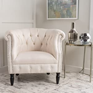 Christopher Knight Home 299497 Akira-Ch. Arm Chair, Beige