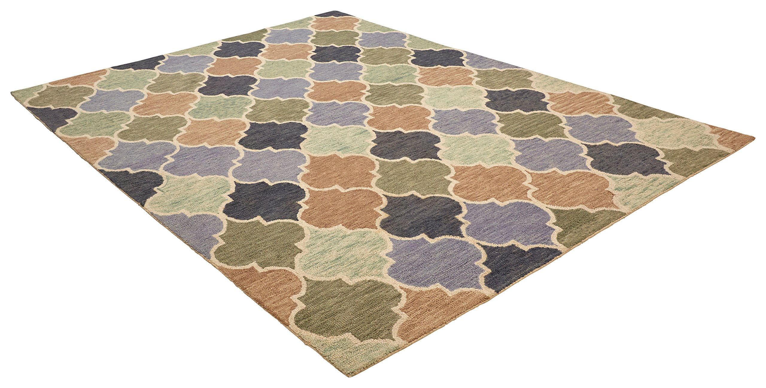 Stone & Beam Quarterfoil Wool Area Rug, 4' x 6', Light Multi by Stone & Beam (Image #3)
