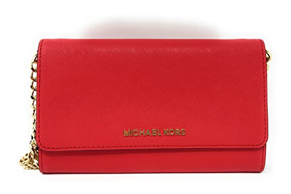 eb3bd3a1cc795b Image Unavailable. Image not available for. Color: Michael Kors Womens Jet  Set Travel LG Phone Crossbody ...