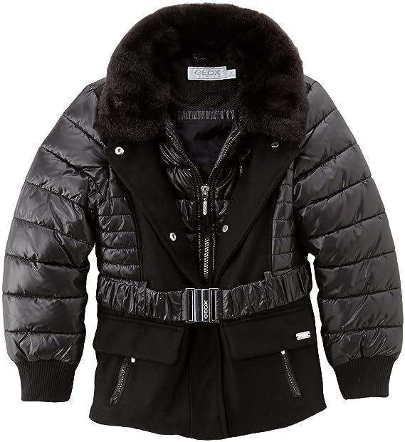 Geox Abrigo para niña, talla FR : 8 ans (Taille Fabricant : 8 ans) - talla francesa, color negro: Amazon.es: Ropa y accesorios